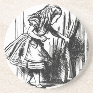 Alice Finds a Door Coaster