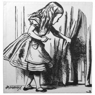 Alice Finds a Door Napkin