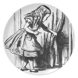 Alice Finds a Door Plate
