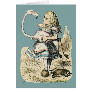 Alice & Flamingo Card