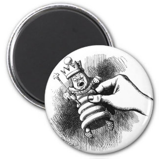 Alice holds the White King 2 Inch Round Magnet