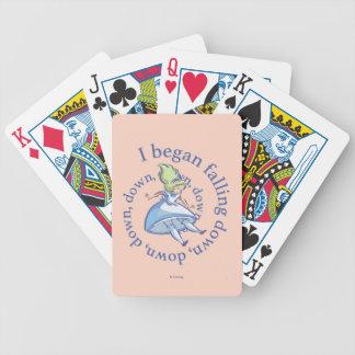 Alice | I Began Falling Down, Down, Down... Poker Deck