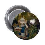 """Alice in a Bosch Landscape"" Button"