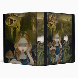Alice in a Bosch Landscape lowbrow gothic Binder