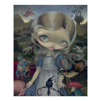 Alice in a Bosch Wonderland ART PRINT gothic