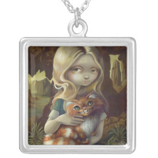 Alice in a Da Vinci Portrait NECKLACE wonderland