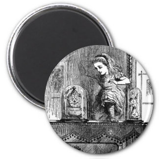 Alice in a Mirror 2 Inch Round Magnet