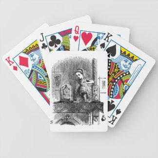 Alice in a Mirror Bicycle Playing Cards