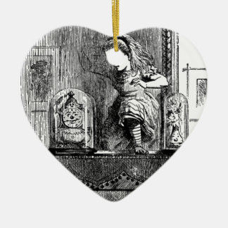 Alice in a Mirror Ceramic Heart Ornament