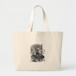 Alice in a Mirror Large Tote Bag