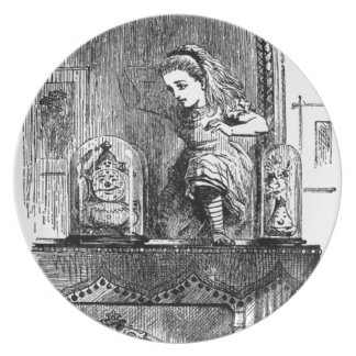 Alice in a Mirror Plate
