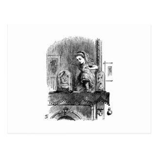 Alice in a Mirror Postcard