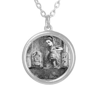 Alice in a Mirror Silver Plated Necklace