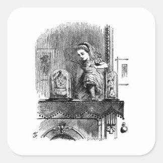 Alice in a Mirror Square Sticker