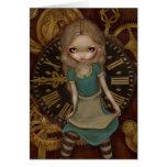 """""""Alice in Clockwork"""" Greeting Card"""