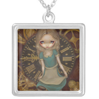Alice in Clockwork NECKLACE steampunk wonderland