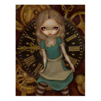 """Alice in Clockwork"" Postcard"