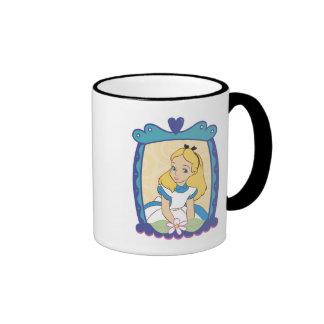 Alice in Frame Disney Ringer Coffee Mug