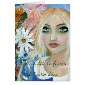 Alice in the Garden of Live Flowers Card