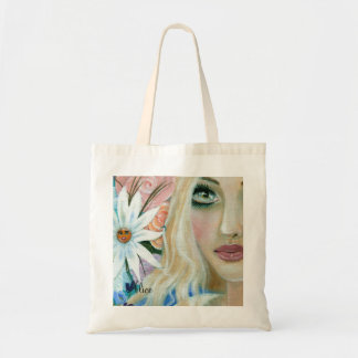 Alice in the Garden of Live Flowers Tote Bag