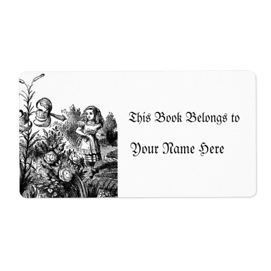 Alice in the Garden Shipping Label