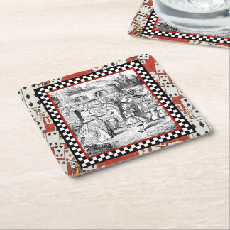 Alice in the Queen's Courtyard 1 Square Paper Coaster
