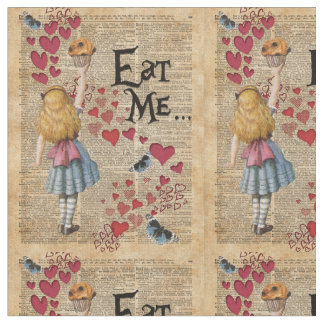 Alice in the Wonderland Eat Me Muffin Fabric
