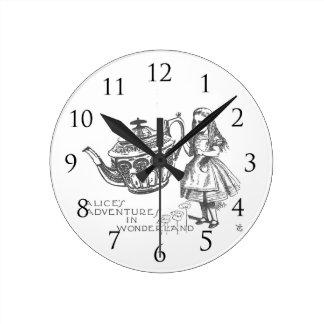 Alice in Wonder Land Round Clock