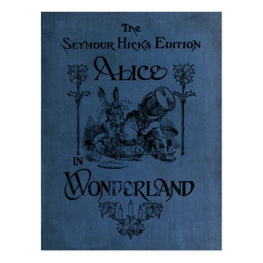 Alice in Wonderland 1905 book cover Postcard