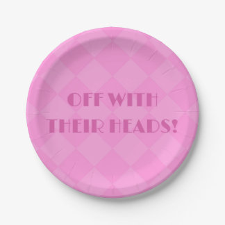 Alice in Wonderland 7inch Pink Paper Plates 7 Inch Paper Plate