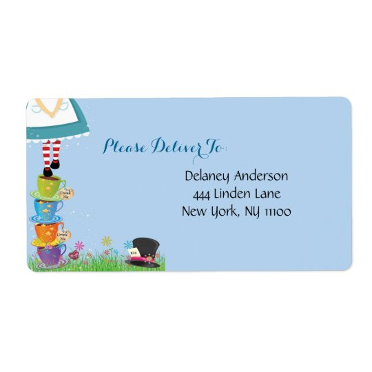 Alice in Wonderland Address Labels