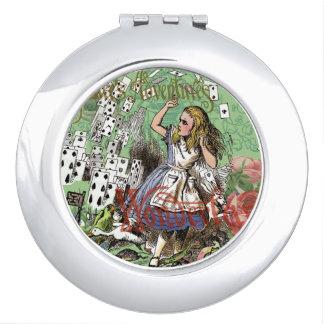 Alice in Wonderland Adventure Vintage Flying Cards Vanity Mirror