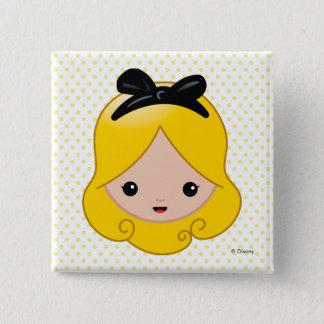 Alice in Wonderland | Alice Emoji 2 Inch Square Button