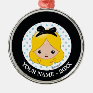 Alice in Wonderland | Alice Emoji Silver-Colored Round Ornament