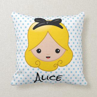 Alice in Wonderland | Alice Emoji Throw Pillow
