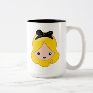 Alice in Wonderland | Alice Emoji Two-Tone Coffee Mug