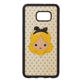 Alice in Wonderland | Alice Emoji Wood Samsung Galaxy S6 Edge Case