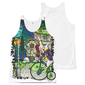 Alice in Wonderland All-Over-Print Tank Top