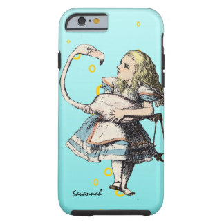 Alice In Wonderland and A Flamingo Tough iPhone 6 Case