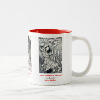Alice in Wonderland and Arthur Rackham Two-Tone Coffee Mug