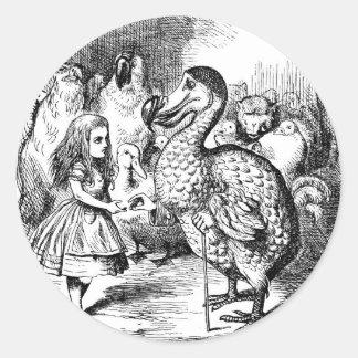 Alice in Wonderland and Dodo Bird Round Sticker