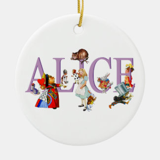 Alice in Wonderland and Friends Ceramic Ornament