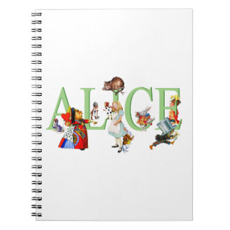 Alice in Wonderland and Friends Notebooks