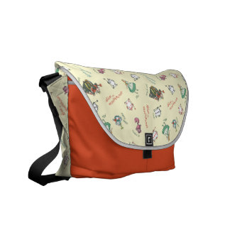 Alice In Wonderland and Friends | Pattern Courier Bag