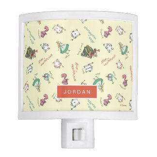 Alice In Wonderland and Friends | Pattern Night Light