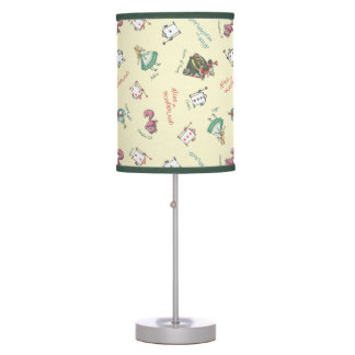 Alice In Wonderland and Friends | Pattern Table Lamp