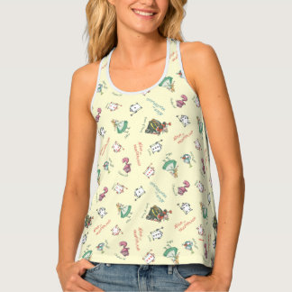 Alice In Wonderland and Friends   Pattern Tank Top