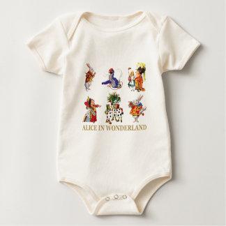 Alice in Wonderland and Her Friends Baby Bodysuit