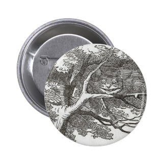 Alice in Wonderland and the Cheshire Cat 2 Inch Round Button