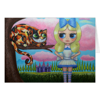 Alice in Wonderland and the Cheshire Cat Card